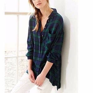 Urban Outfitters Blue & Green Flannel Shirt